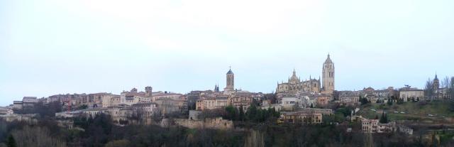 Vista panorámica del casco antiguo de Segovia
